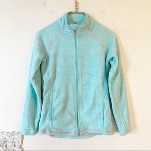 Roxy Zip Up Fleece Turquoise Girls XL 14